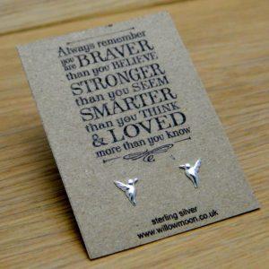 Hummingbird sterling silver earrings