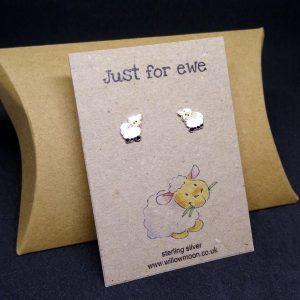 I love ewe! – sheep sterling silver earrings