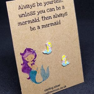 Always be a mermaid – sterling silver earrings