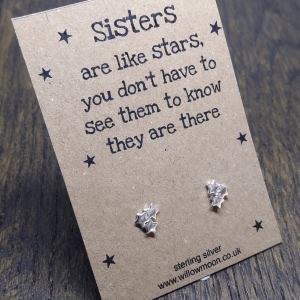 Sisters are like stars – triple star sterling silver studs