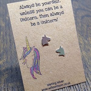 Always be a unicorn – sterling silver studs