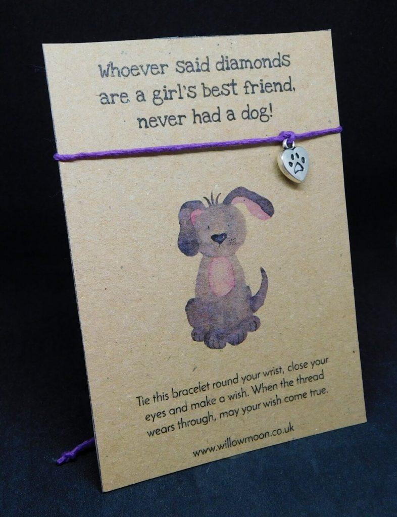 Dog charm wish bracelet